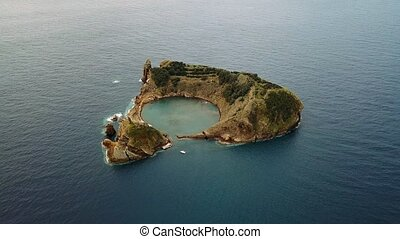 Islet of Vila Franca do Campo - formed by the crater of an...