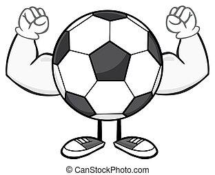 ismeretlen, futball, hajlító, labda