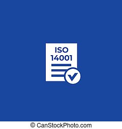 ISO 14001 icon, eps 10 file, easy to edit