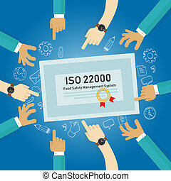 ISO 22000 - food safety management, concept of standard...