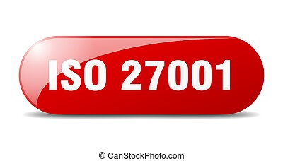 iso 27001 button. rounded glass sign. sticker. banner