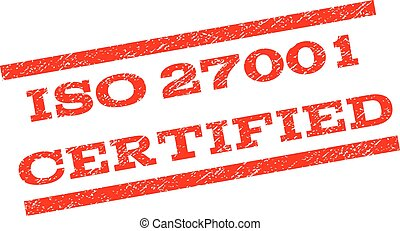 ISO 27001 Certified Watermark Stamp