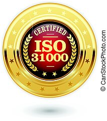 ISO 31000 certified medal - Risk management