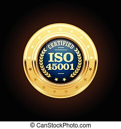iso, 45001, standard, érem, -, hivatással összefüggő, health biztonság