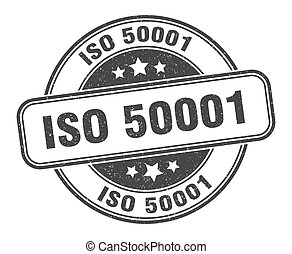 iso 50001 stamp. iso 50001 sign. round grunge label