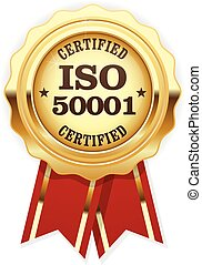 ISO 50001 standard certified rosette - energy management systems