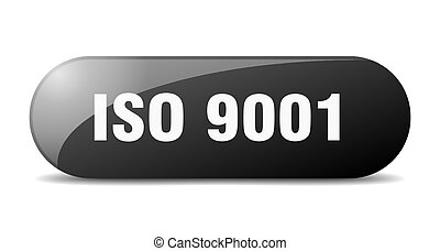 iso 9001 button. rounded glass sign. sticker. banner