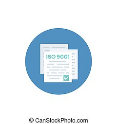 ISO 9001 standard icon, eps 10 file, easy to edit