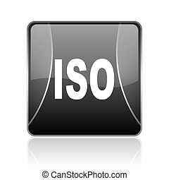 iso black square web glossy icon