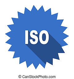 iso blue flat icon