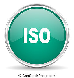 iso blue glossy circle web icon