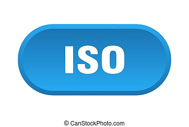 iso button. rounded sign isolated on white background