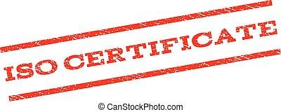 ISO Certificate Watermark Stamp