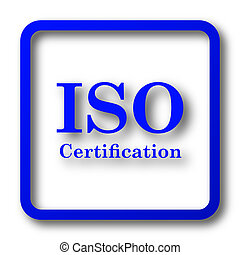 ISO certification icon. ISO certification website button on...