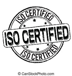Iso certified stamp - Iso certified grunge rubber stamp on ...