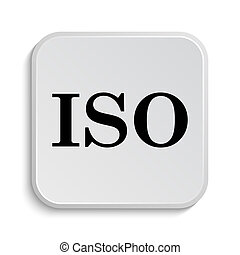 ISO icon. Internet button on white  background.