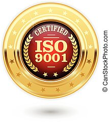 iso, médaille, 9001, certifié
