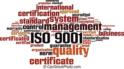 iso, palabra, 9001, nube