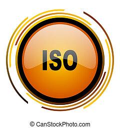 iso round design orange glossy web icon