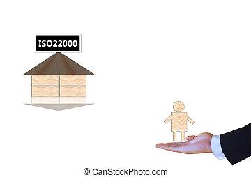 iso22000, specifying, för, mat säkerhet, administration