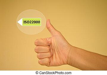 iso22000, specifying, für, essenssicherheit, geschäftsführung