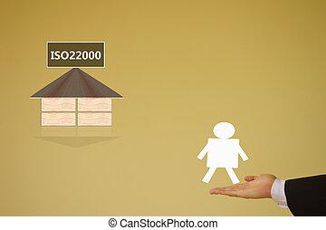 iso22000, specifying, para, seguridad del alimento, dirección