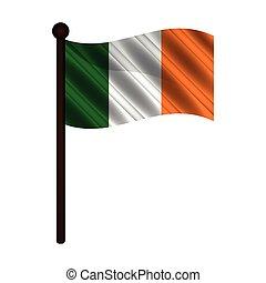 Isoalted flag of Ireland