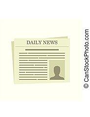 isoalted, illustration, baggrund., vektor, avis, hvid