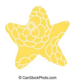 isolé, étoile, noël blanc, vendange, arrière-plan.
