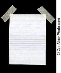 isolé, arrière-plan., papier, noir, vide, blanc, revêtu