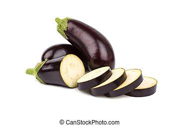 isolé, aubergine
