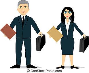 isolé, avocat, couple