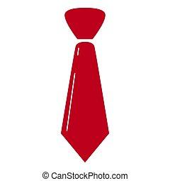 isolé, cravate, icône