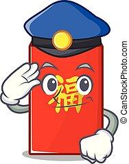 isolé, enveloppe, dessin animé, rouges, police