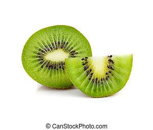 isolé, fond, kiwi, blanc, fruit