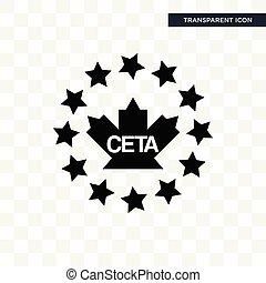 isolé, fond, vecteur, conception, ceta, logo, transparent, icône
