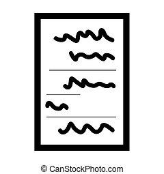 isolé, icône, papier