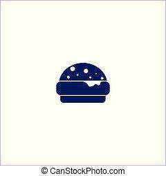 isolé, icône, symbole., cheseburger, signe