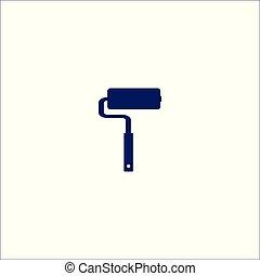 isolé, icône, symbole., rouleau, signe