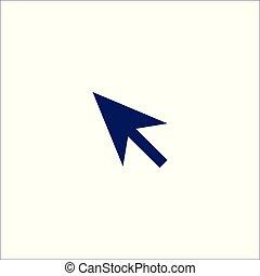 isolé, icône, symbole., signe flèche