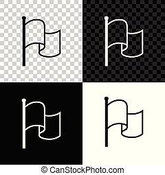 isolé, illustration, arrière-plan., drapeau, vecteur, noir, blanc, transparent, icône