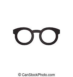 isolé, illustration, arrière-plan., vecteur, noir, icône, blanc, lunettes