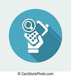 isolé, illustration, téléphone, unique, vecteur, icône