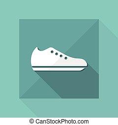 isolé, illustration, unique, vecteur, chaussure, icône