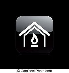 isolé, illustration, unique, vecteur, maison, icône