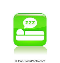 isolé, illustration, unique, vecteur, sommeil, icône
