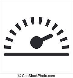 isolé, illustration, unique, vecteur, vitesse, icône
