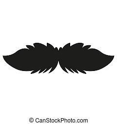 isolé, image, moustache
