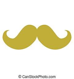isolé, moustache, image