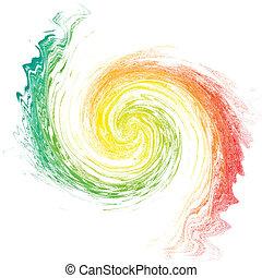 isolé, multicolore, vortex, white.